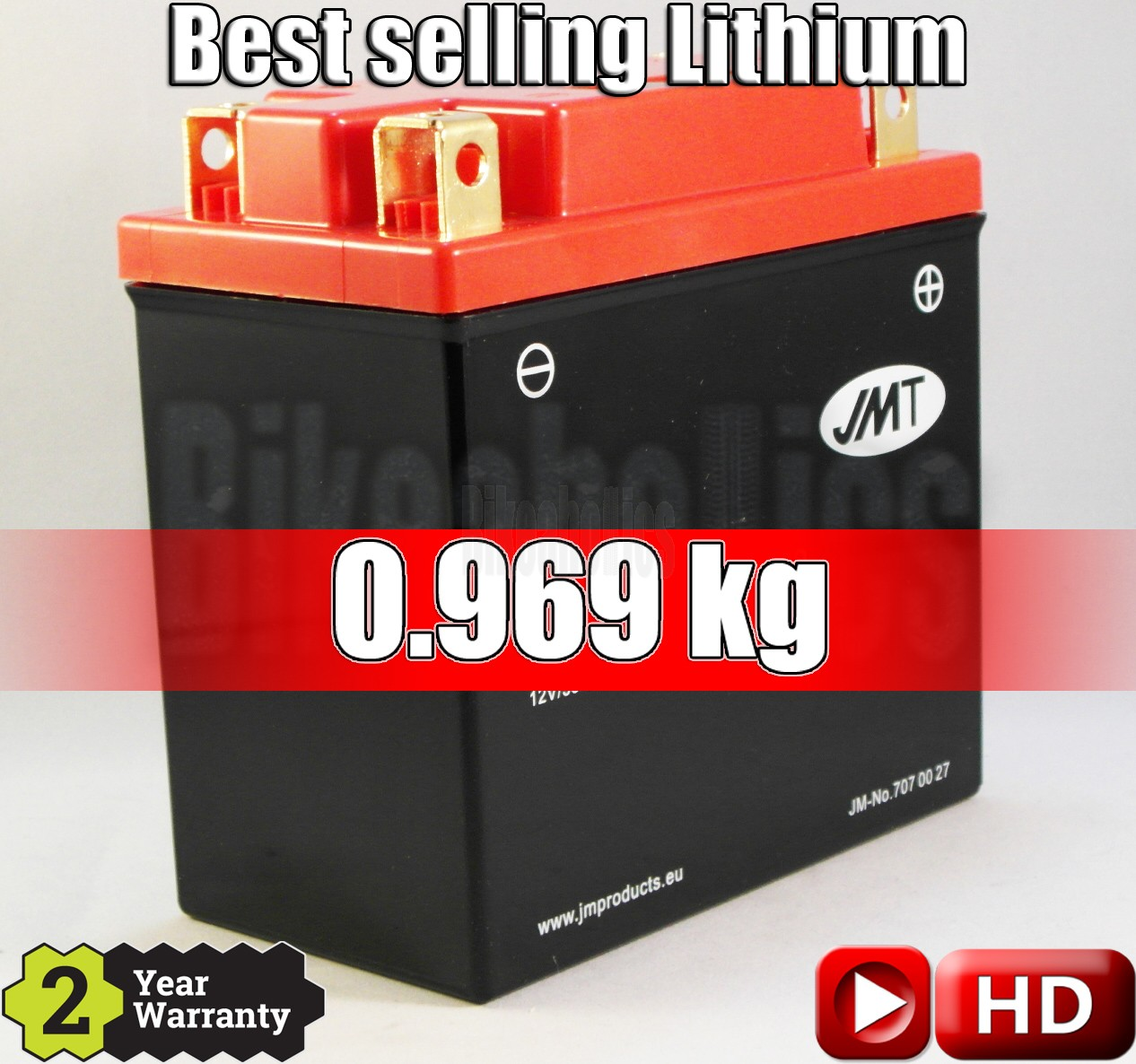 LITHIUM - Best Price - Motorcycle Battery YTX14AH-FP JMT SYB14L-B2 12N14-3A