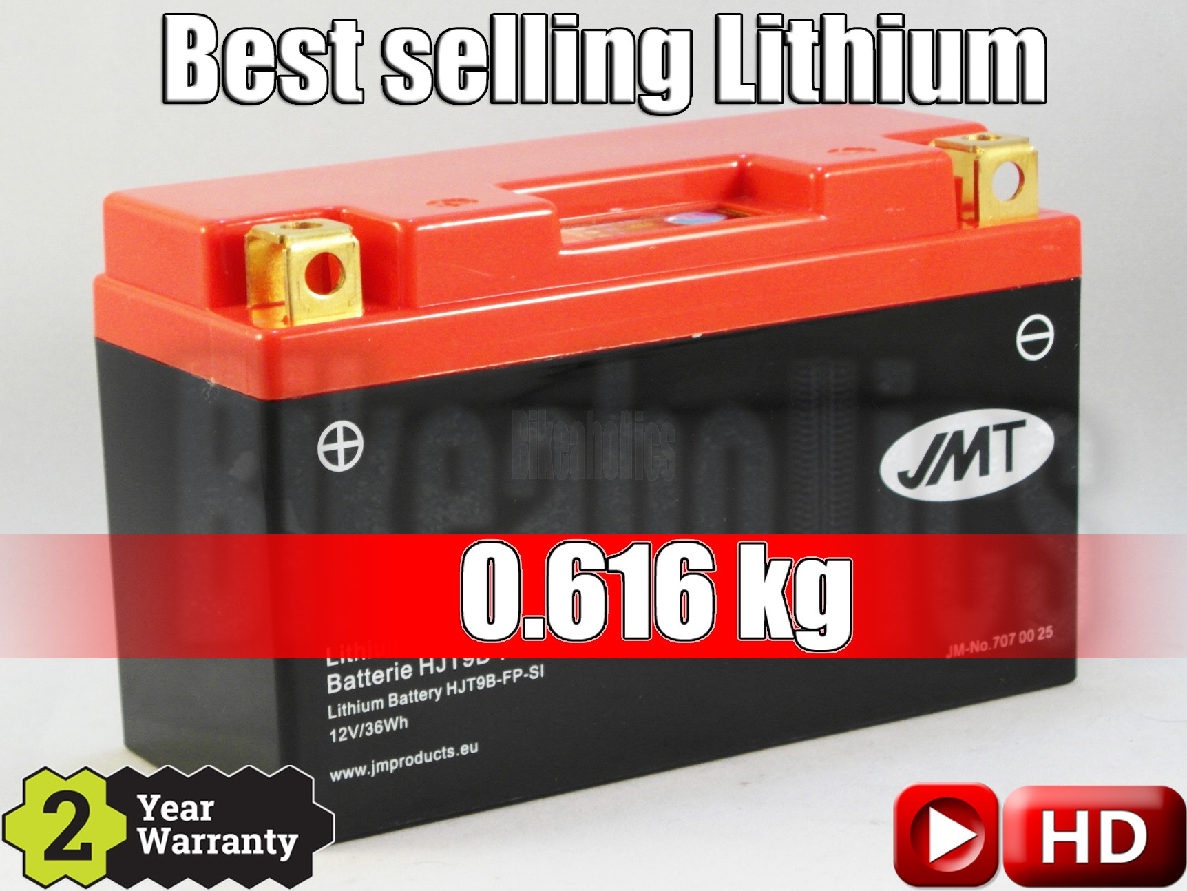 LITHIUM - Best Price - Motorcycle Battery YT9B-FP JMT YT7B-BS YT9B-BS