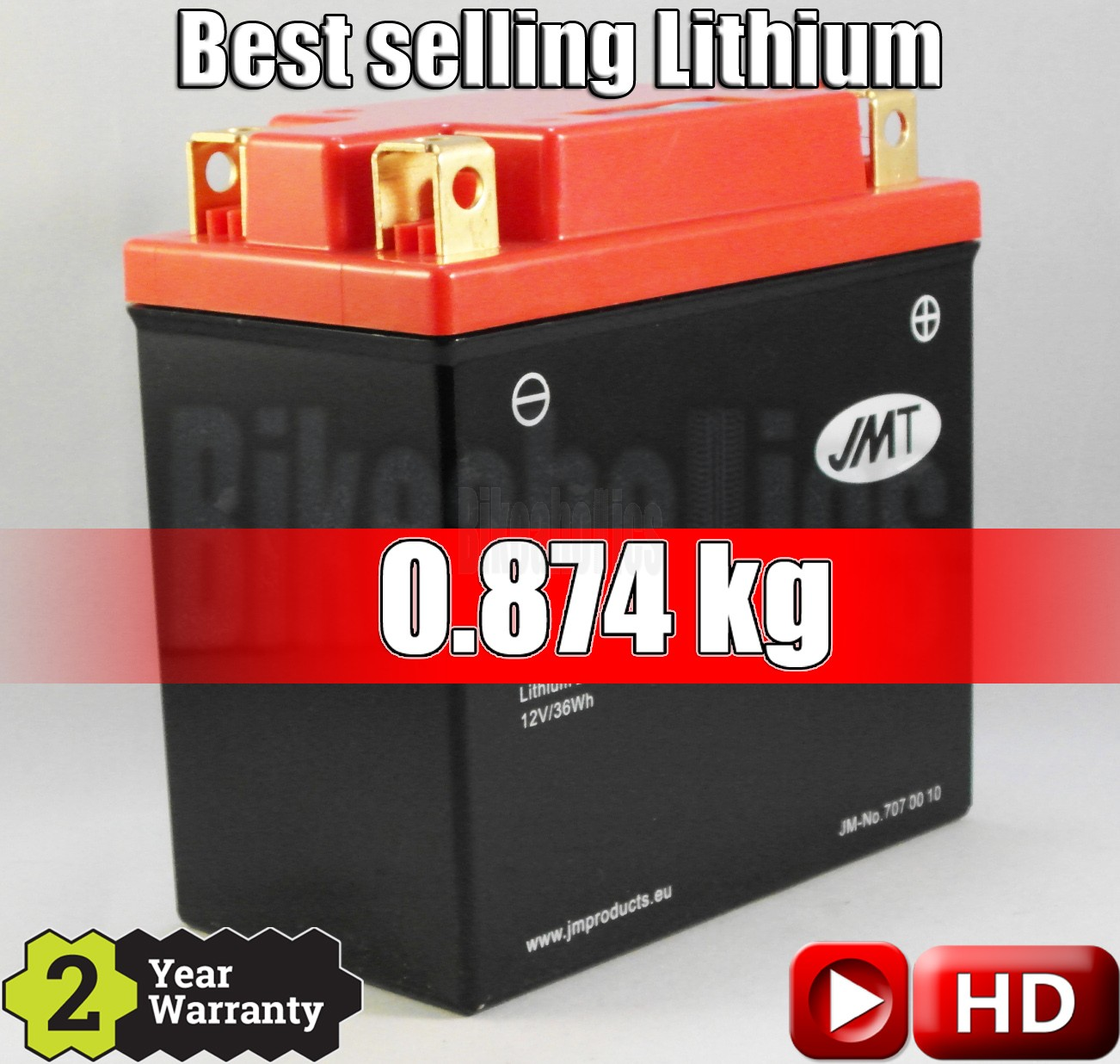 LITHIUM -Best Price- Motorcycle Battery YB9-FP JMT 12N7-4B 12N9-4B-1 HVT-9 YB7L