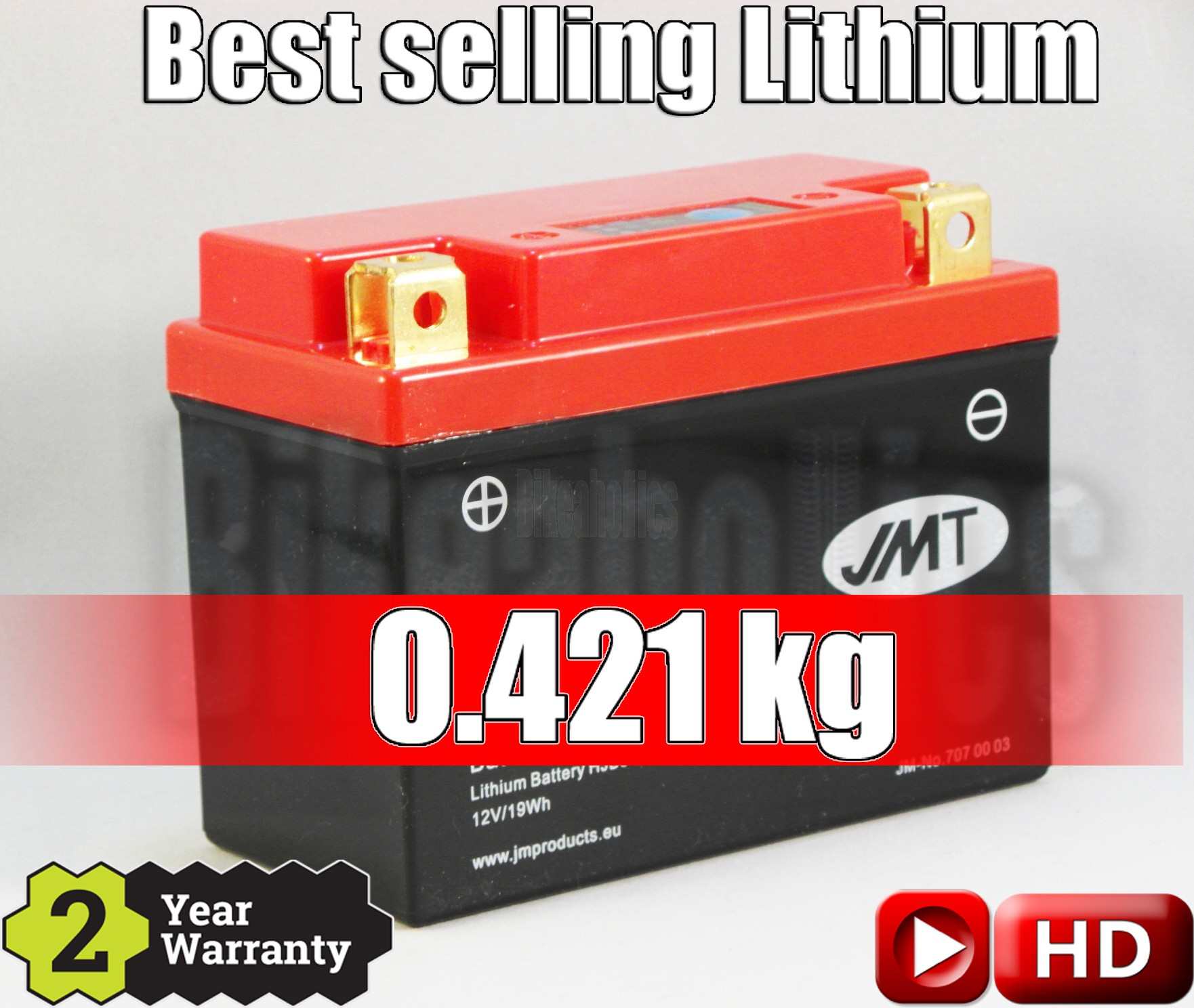 LITHIUM - Best Price - Motorcycle Battery YB5-FP JMT 12N5-4B 12N5.5-4A