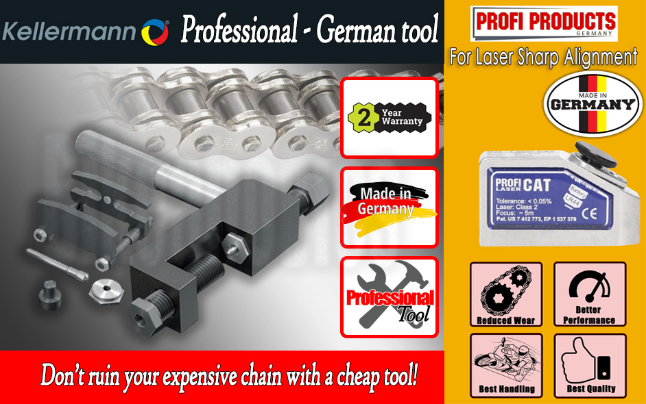 Pro Chain Fitting Kit: Chain Breaker + Laser tool- Yamaha FZ6 600 N - 2005