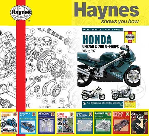 details about haynes service / repair manual for honda vfr